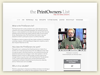 Print Owners List
